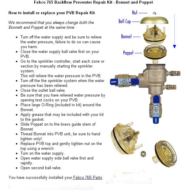 Sprinkler System Backflow Preventer Parts Www Imgkid Com